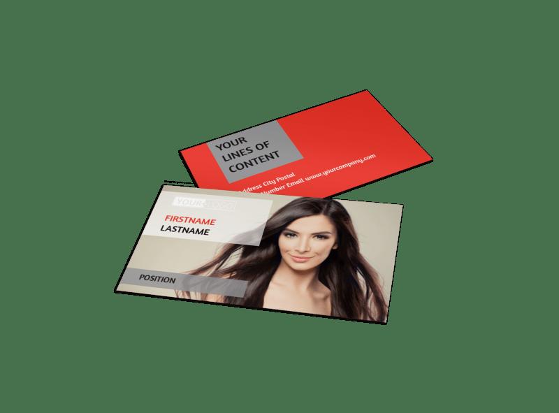 Hair Salon Business Card Template Preview 1