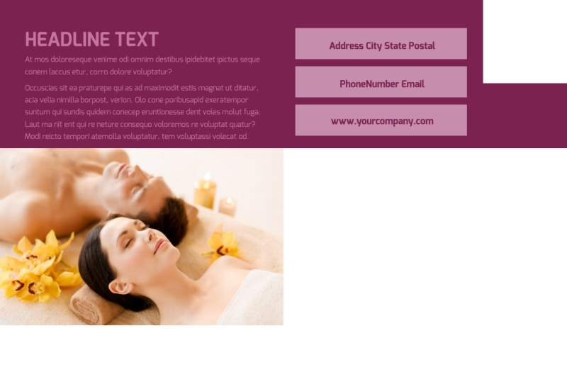 Spa Resort Postcard Template Preview 3