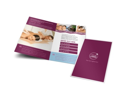 Spa Resort Bi-Fold Brochure Template preview