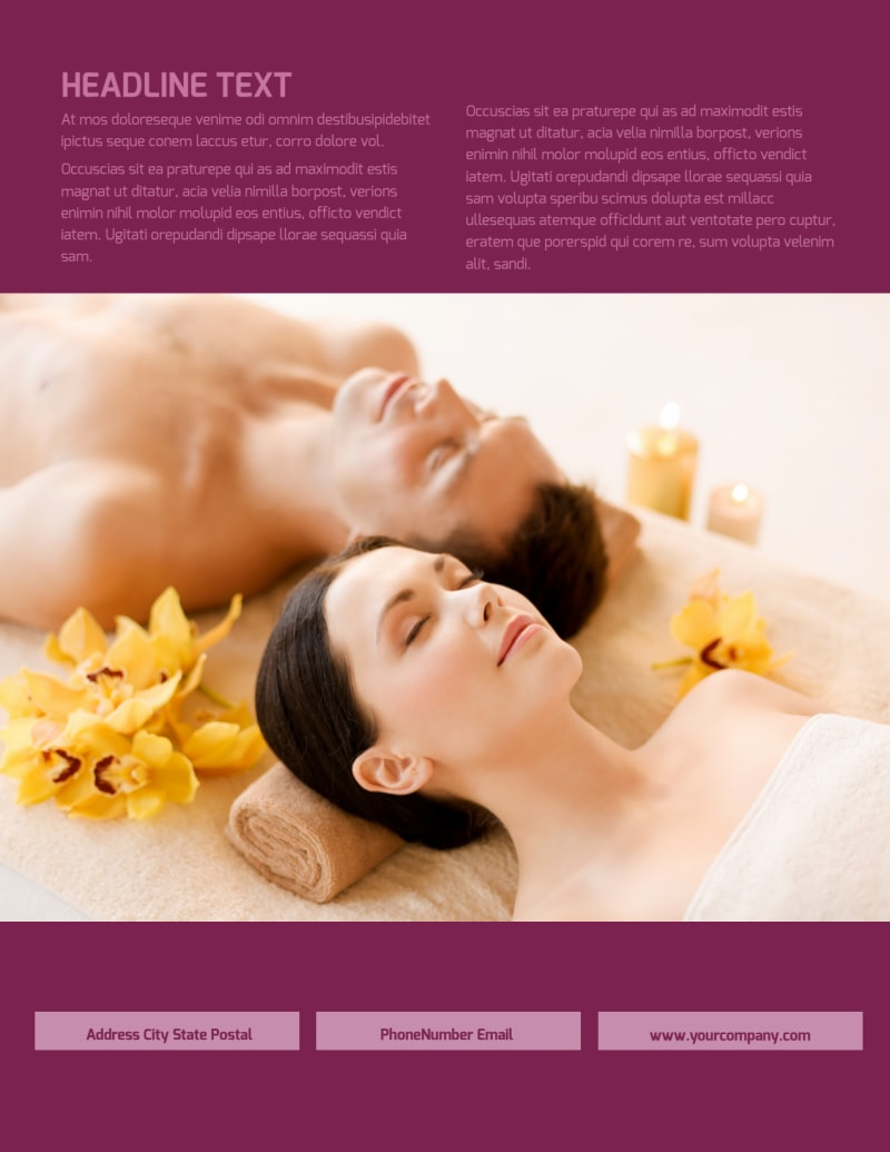 Spa Resort Flyer Template Preview 3