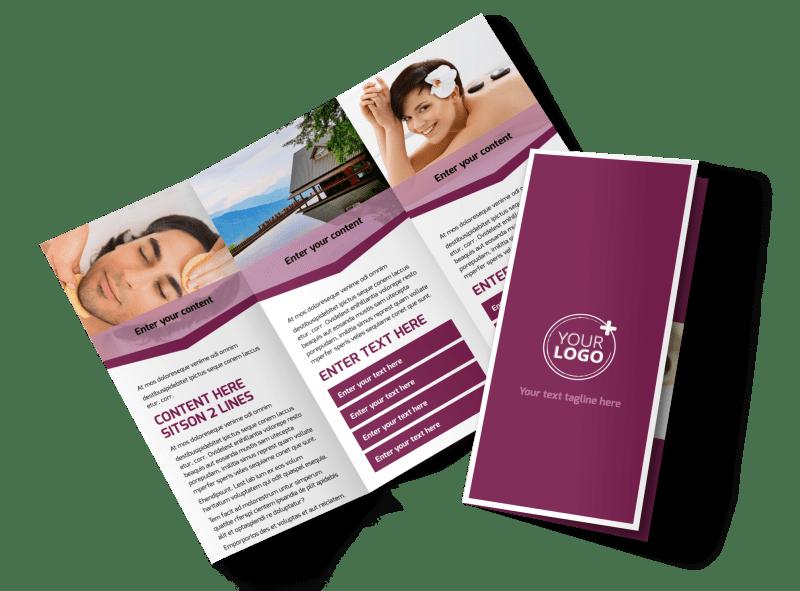 Spa Resort Brochure Template Preview 1