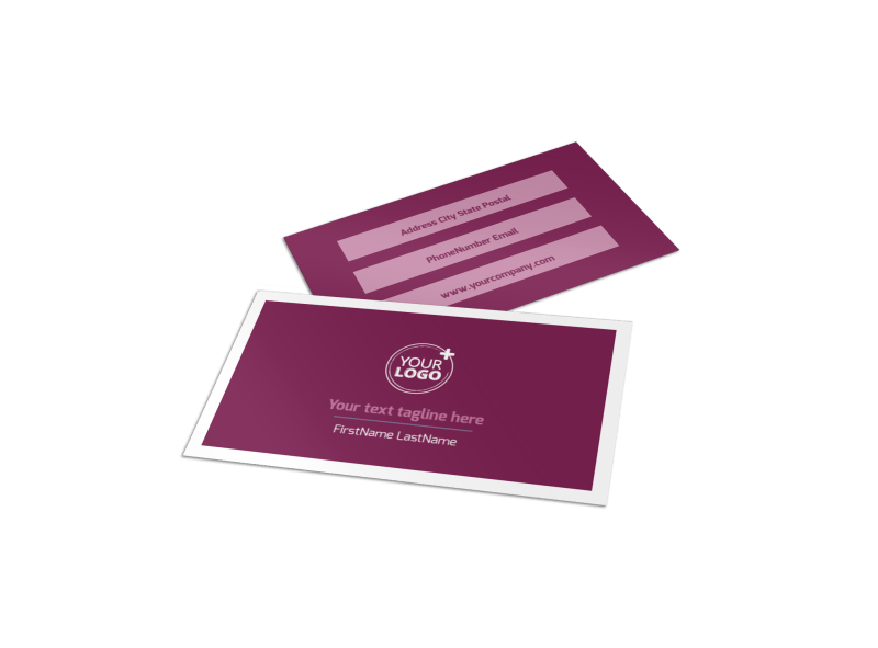 Spa Resort Business Card Template Preview 1
