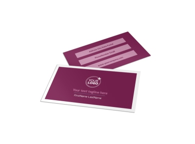 Spa Resort Business Card Template