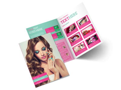 Pedi & Mani Bi-Fold Brochure Template 2 preview