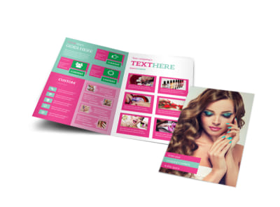 Pedi & Mani Bi-Fold Brochure Template preview