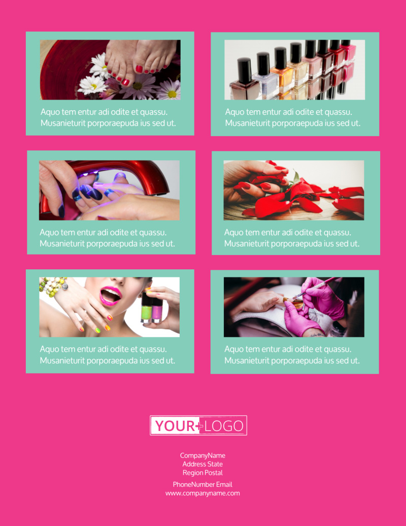 Pedi & Mani Flyer Template Preview 3