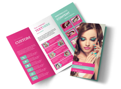Pedi & Mani Tri-Fold Brochure Template preview