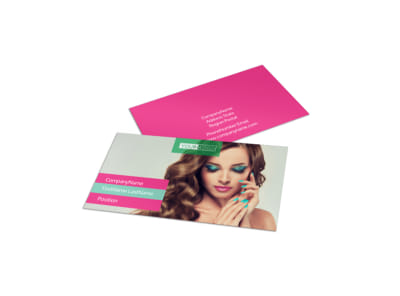 Pedi & Mani Business Card Template preview