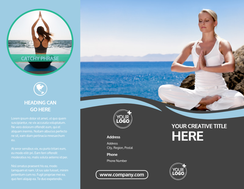 Spiritual Yoga Class Brochure Template Preview 2