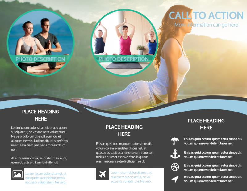 Spiritual Yoga Class Brochure Template Preview 3