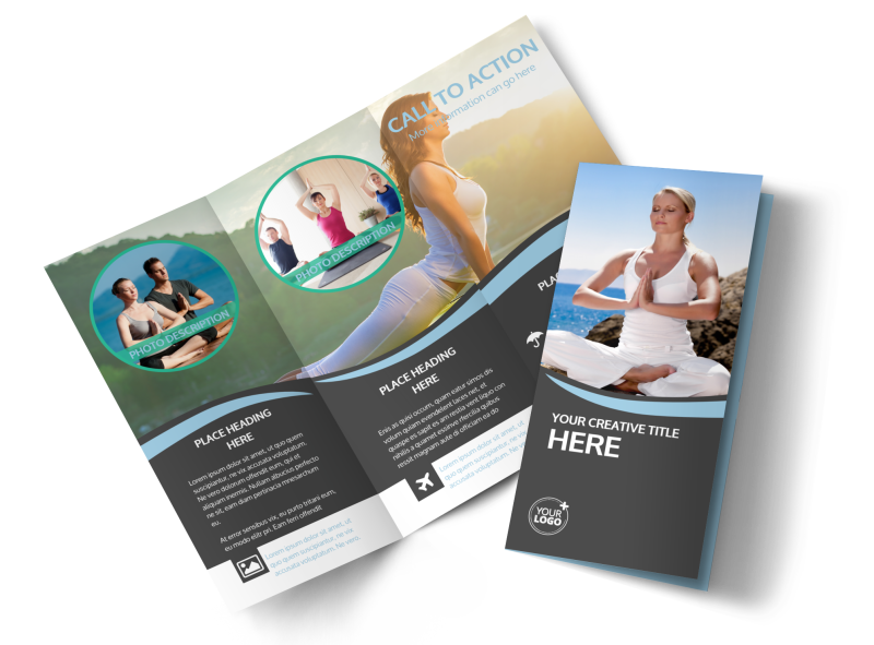 Spiritual Yoga Class Brochure Template Preview 1