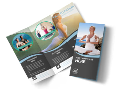 Spiritual Yoga Class Tri-Fold Brochure Template preview