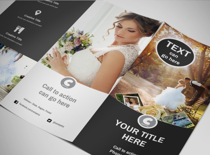 Wedding photography package tri fold brochure template for Wedding photography brochure template