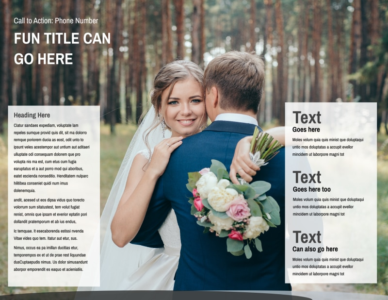 Wedding Photography Package Brochure Template Preview 3