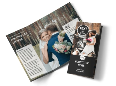 Wedding Photography Package Tri-Fold Brochure Template