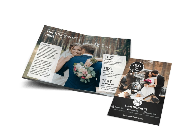 Wedding Photography Brochure Ideas: Wedding Photography Package Bi-Fold Brochure Template