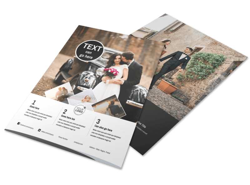 Wedding Photography Package Flyer Template