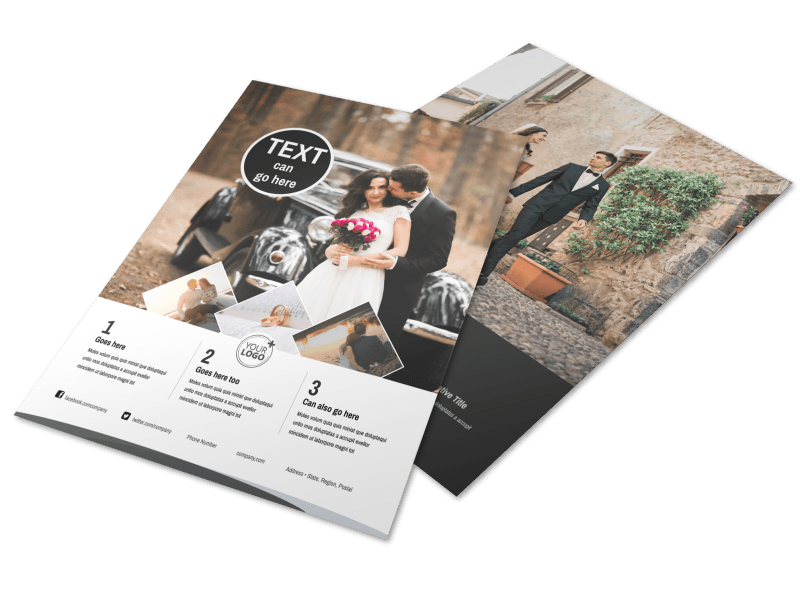 Wedding Photography Package Flyer Template Preview 1