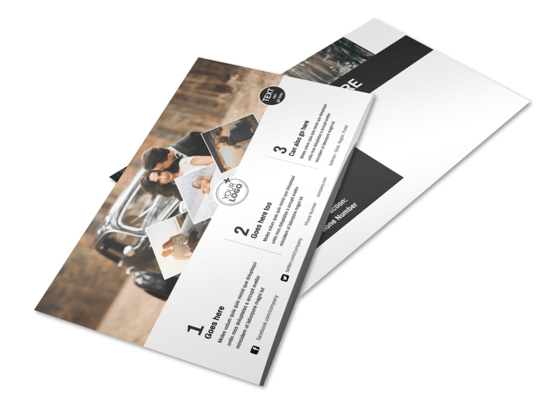 Wedding Photography Package Postcard Template