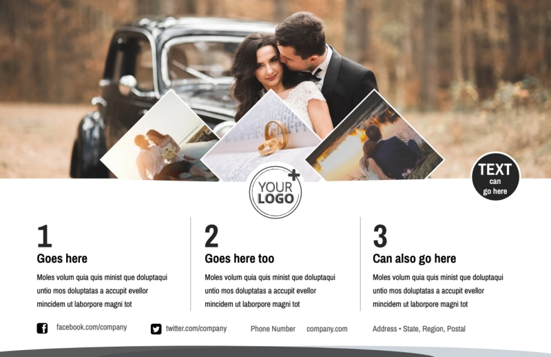 Wedding Photography Package Postcard Template Preview 2