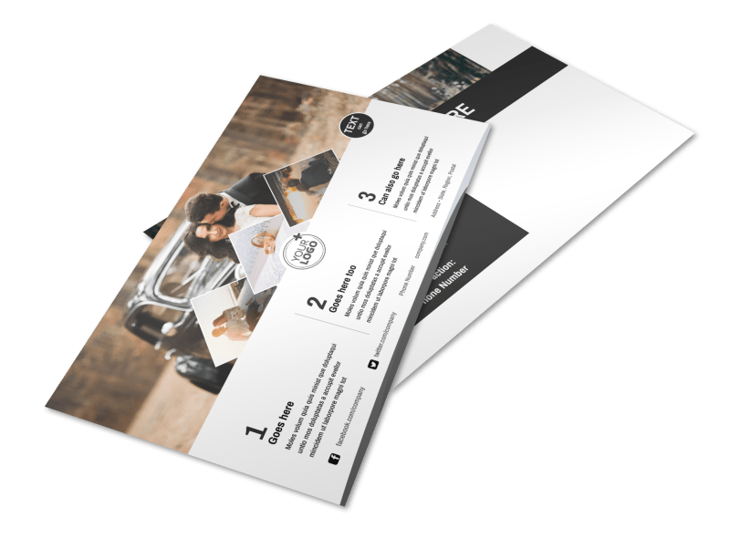 Wedding Photography Package Postcard Template Preview 1