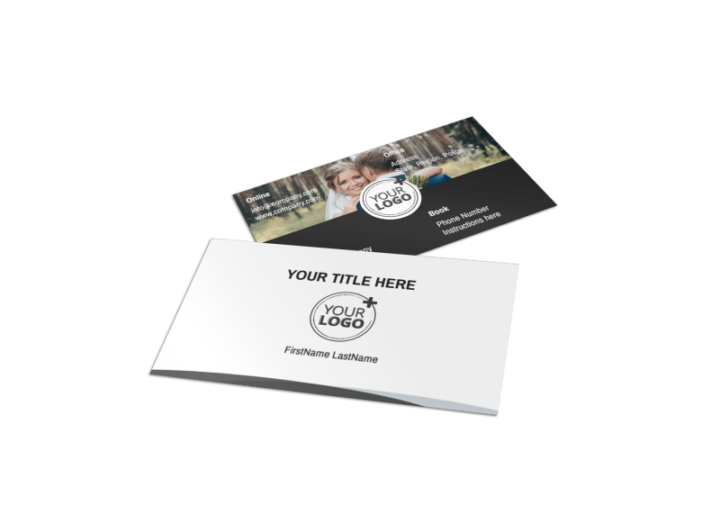Wedding Photography Package Business Card Template Preview 1