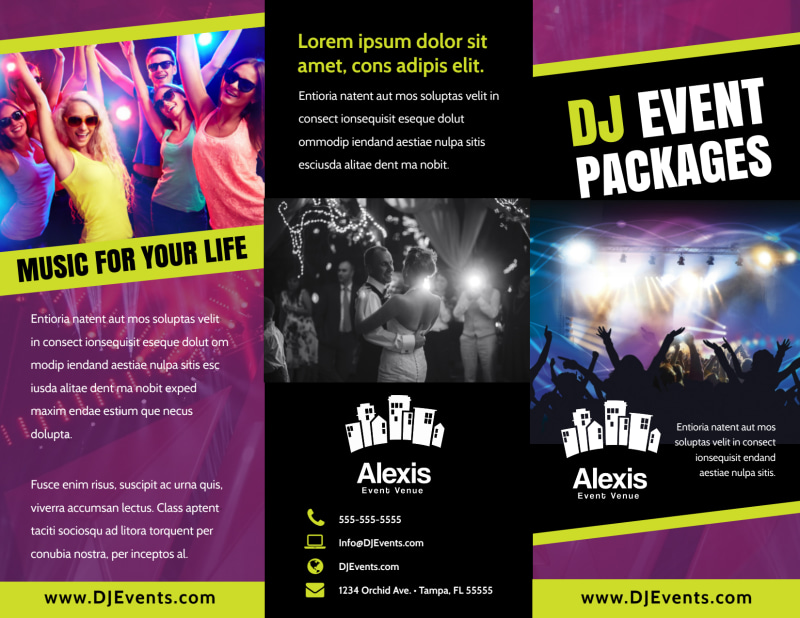 DJ Event Package Brochure Template Preview 2