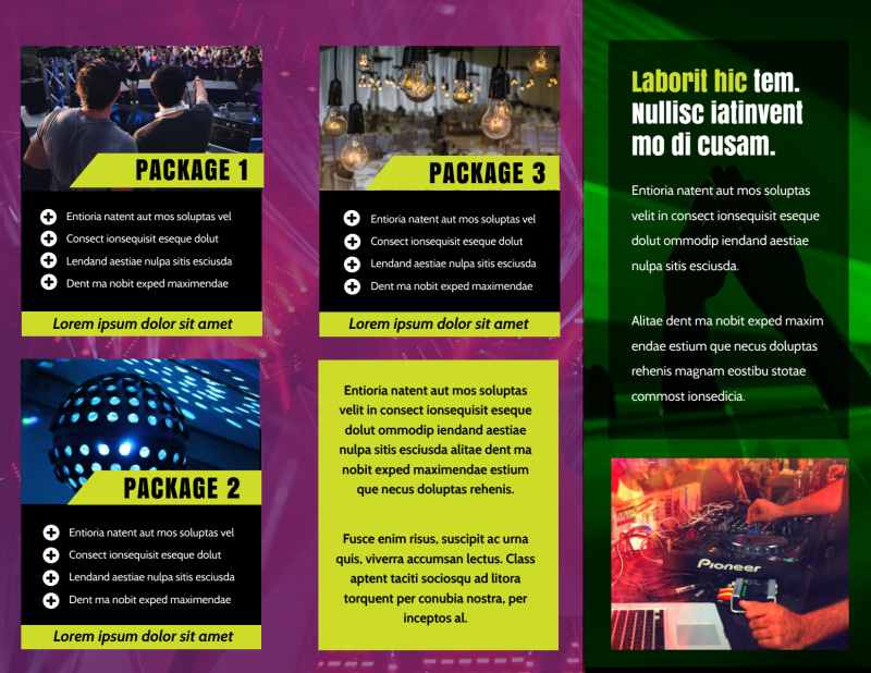DJ Event Package Brochure Template Preview 3