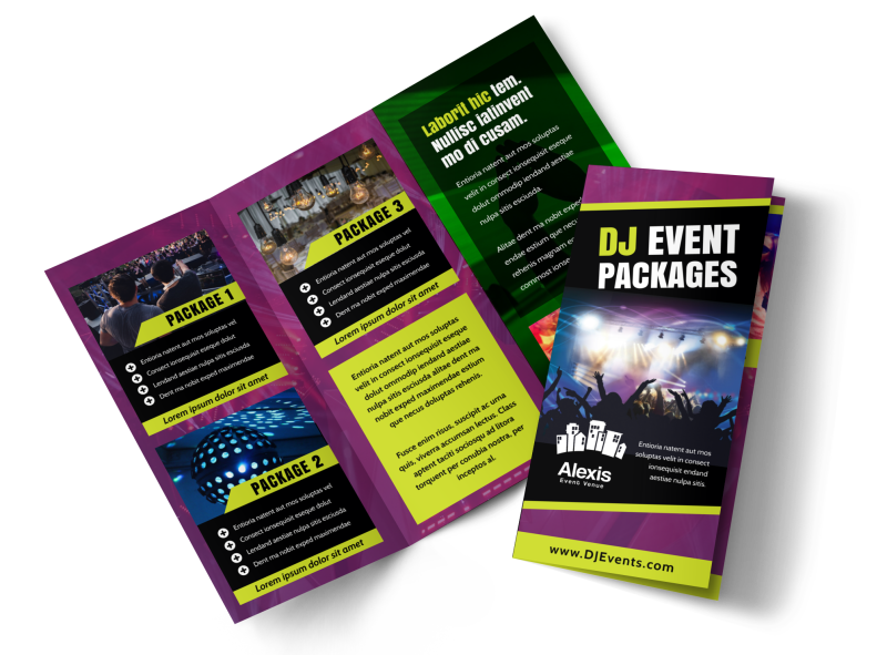 DJ Event Package Brochure Template Preview 1