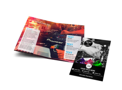 DJ Event Package Bi-Fold Brochure Template