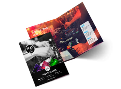 DJ Event Package Bi-Fold Brochure Template 2