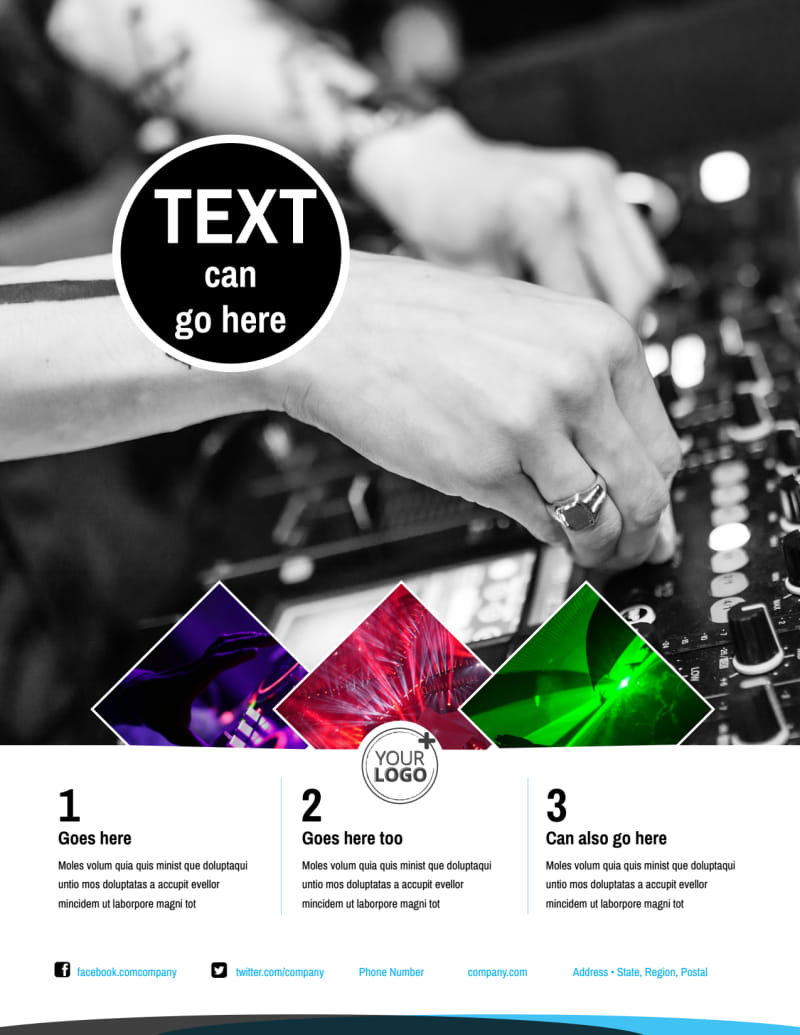 DJ Event Package Flyer Template Preview 2