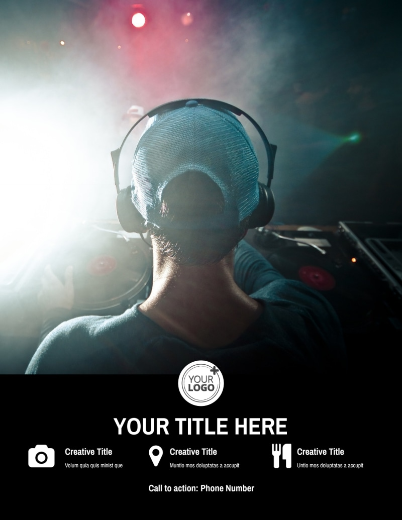 DJ Event Package Flyer Template Preview 3