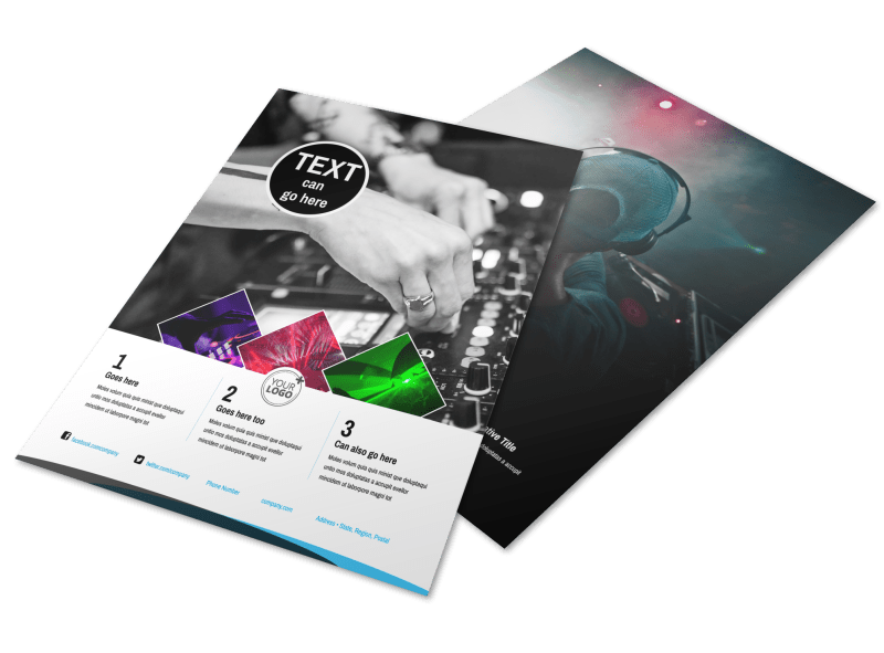 DJ Event Package Flyer Template Preview 1