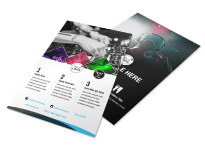 DJ Event Package Flyer Template 3