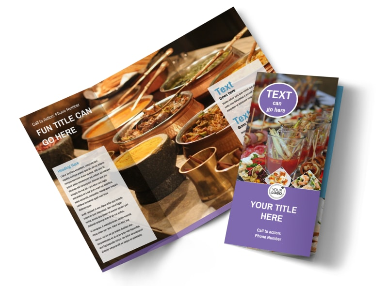 Catering Package Tri-Fold Brochure Template