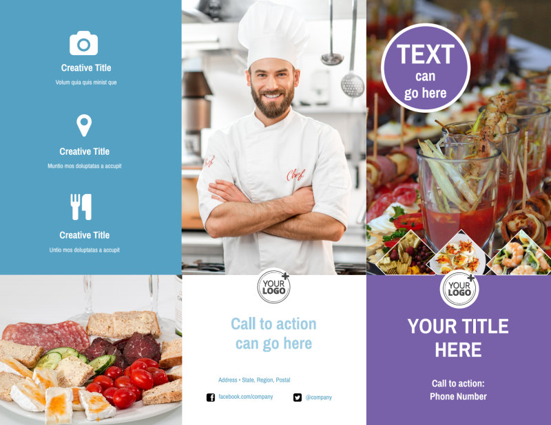 Catering Package Brochure Template Preview 2