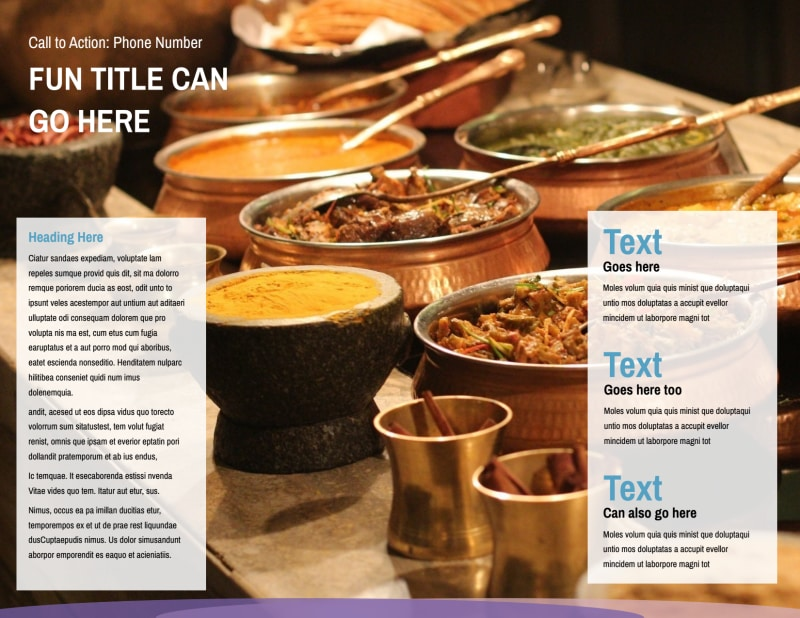 Catering Package Brochure Template Preview 3