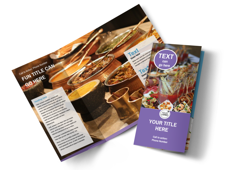 Catering Package Brochure Template Preview 1