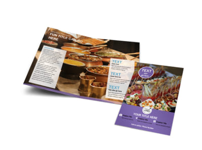 Catering Package Bi-Fold Brochure Template preview