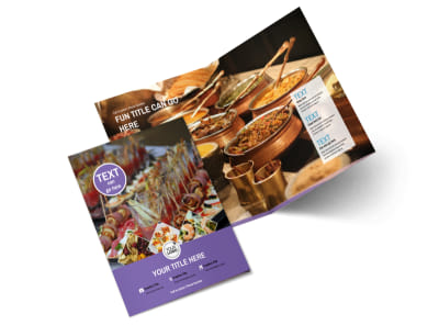 Catering Package Bi-Fold Brochure Template 2