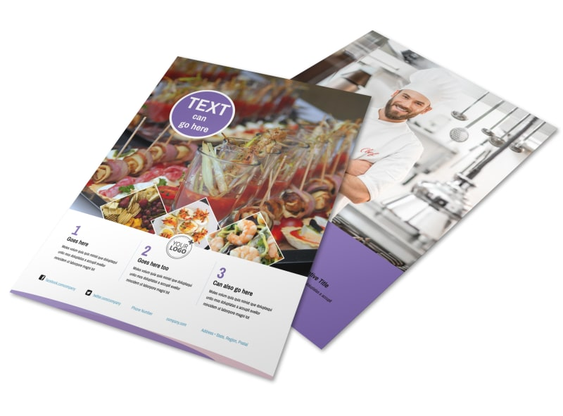 Catering Package Flyer Template Preview 4
