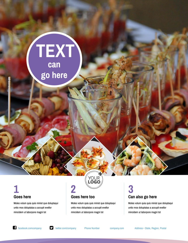 Catering Package Flyer Template Preview 2