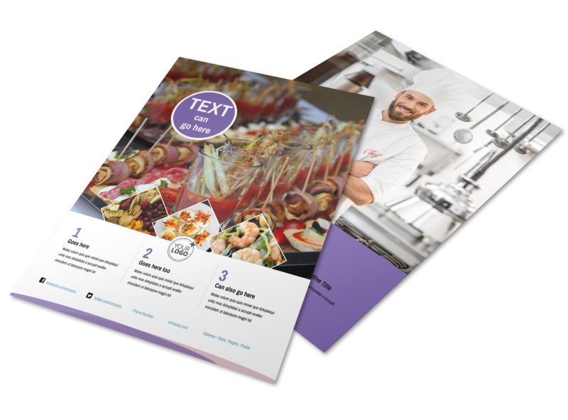 Catering Package Flyer Template Preview 1