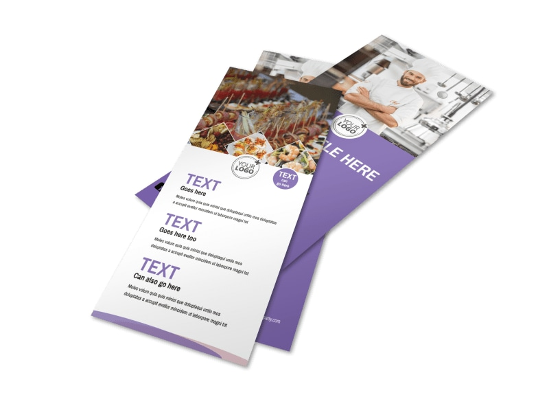 catering brochure templates - catering package flyer template