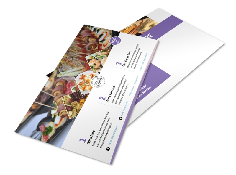 Catering Package Postcard Template