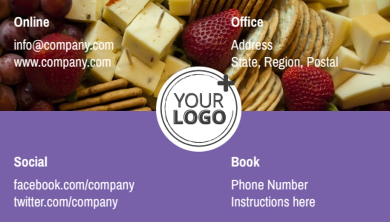 Catering Package Business Card Template Preview 3