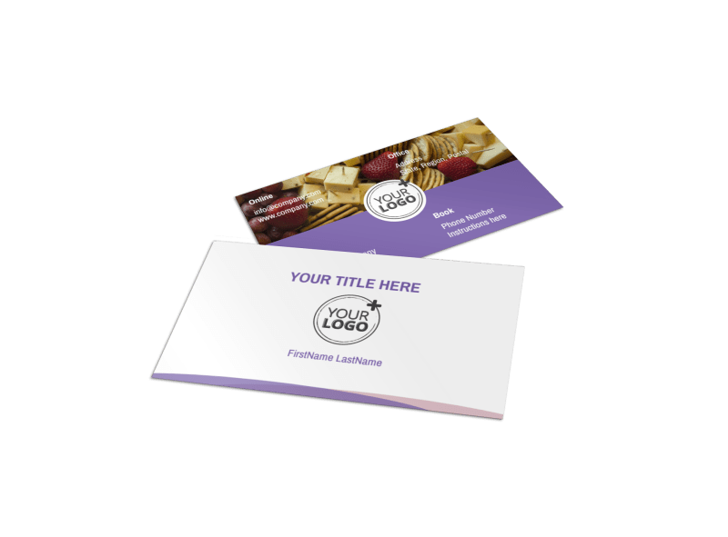Catering Package Business Card Template Preview 1