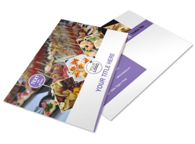 Catering Package Postcard Template 2