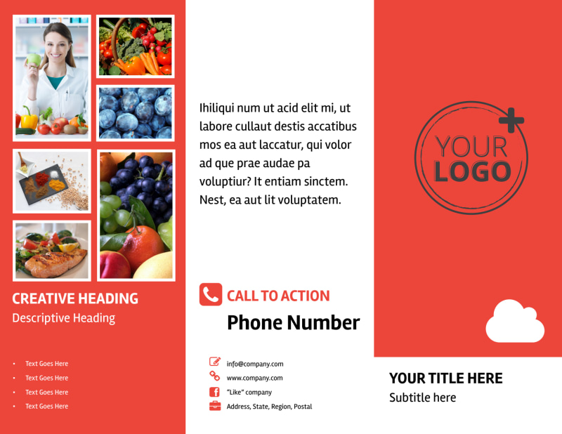 Nutrition Options Brochure Template Preview 2